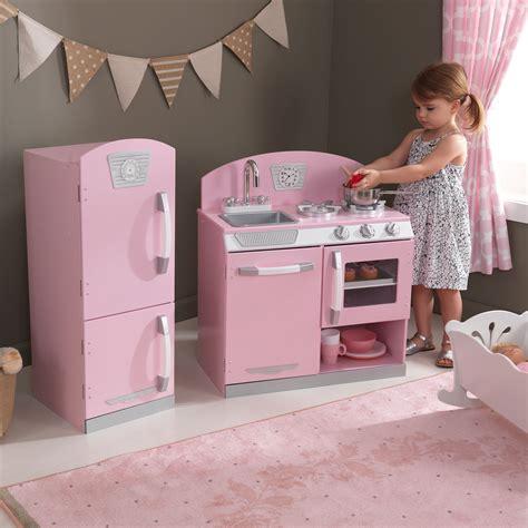 kidkraft  pink retro  piece kitchen refrigerator