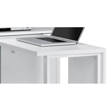 Bureau Modulable Contemporain Avec Rangement Coloris Blanc