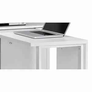 Bureau Blanc Avec Rangement : bureau modulable contemporain avec rangement coloris blanc cody ~ Teatrodelosmanantiales.com Idées de Décoration