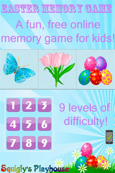 easter memory easter game squiglys playhouse