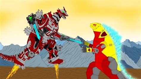 godzilla earth  kiryu robot fighting moments robot