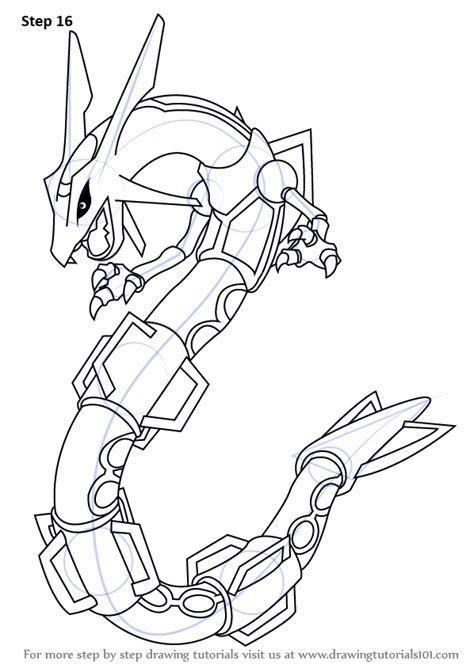 learn   draw rayquaza  pokemon pokemon step  step drawing tutorials