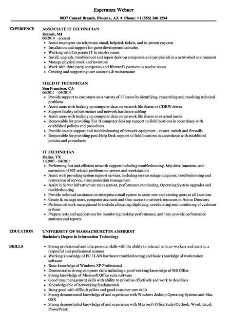 it technician resume sles velvet