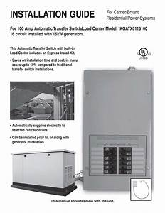 Kgatx0116100 100 Amp Automatic Transfer Switch  Load Center