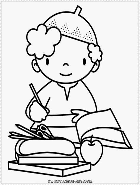 gambar kartun anak sedang membaca top gambar