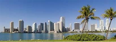 Miami Skyline Florida Downtown Usa Cities Expanding