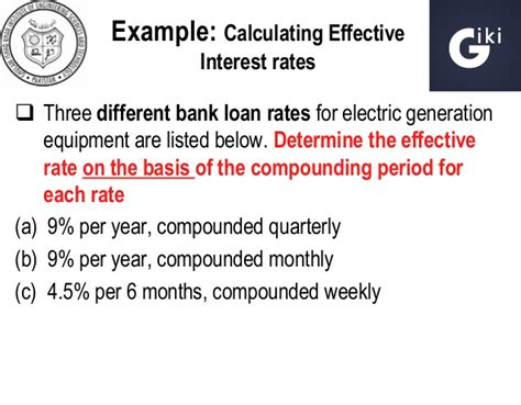 Chapter 4 Nominal & Effective Interest Rates