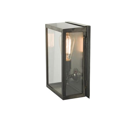 7644 box wall light internal glass small weathered