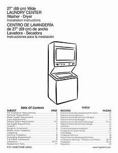 Instrucciones Instalacion Centro De Lavado Vertical 14 Kgs