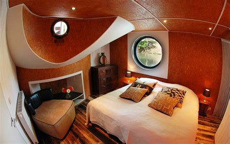 luxury hotel barge  canal cruise  pool france