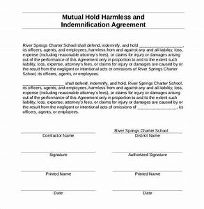 30 sample hold harmless agreement templates to download With hold harmless waiver template