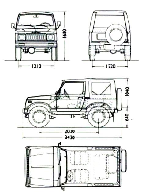 Suzuki Samurai Dimensions by Suzuki Samurai Dimensions Car Info