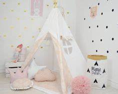 Tipi Petite Fille : kids teepee tipi with poles 5 pole kids children indoor outdoor playtent play tent tipi ~ Teatrodelosmanantiales.com Idées de Décoration