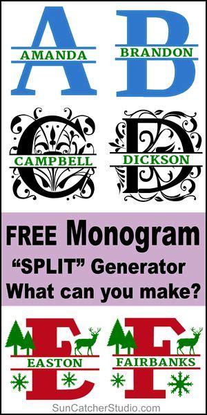 split monogram maker   svg format monogram maker cricut monogram