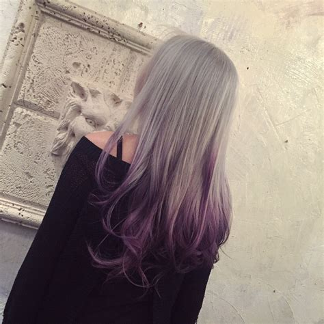 Silver To Purple Ombre Hair Colors Ideas