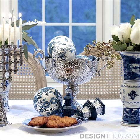 Using Blue And White Chinoiserie For Hanukkah Decorations. Renting Wedding Decorations. Discount Garden Decor. Room Ionizer. Gray Baby Room. Home Office Decorating Ideas. Living Room Painting. Blue Room Decor. Sea Creature Decorations
