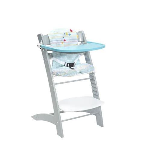 badabulle chaise haute 233 volutive bleu et gris pas cher