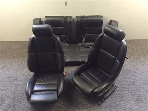 bmw   series black leather sport seats interior