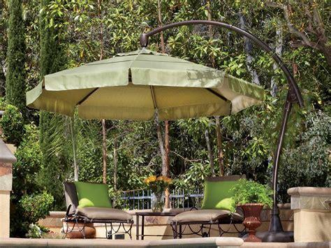 Umbrella Backyard by Treasure Garden Cantilever Aluminum 11 Crank Lift And