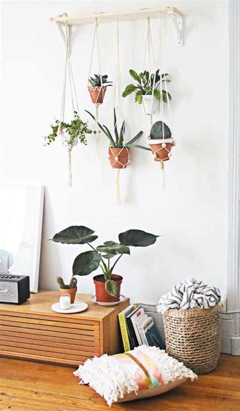 decoration murale plante diy jardin suspendu rassembler plusieurs suspensions pour