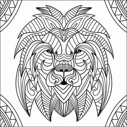 Lion Coloring Pages Lions Head Mandala Patterns