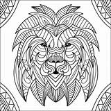 Lion Coloring Lions Head Pages Mandala Patterns Adults Adult Children Incredible Funny Justcolor sketch template