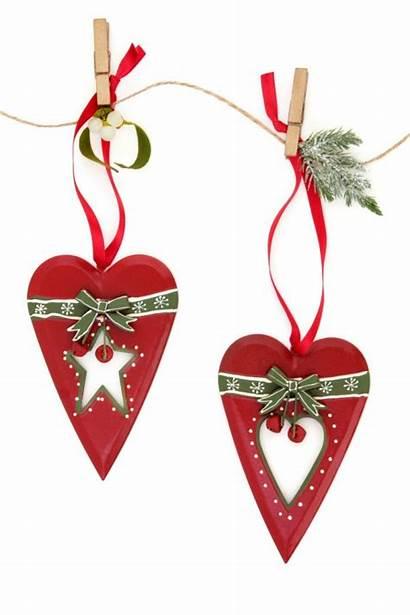 Christmas Heart Decorations Ornaments Retro Holiday Line