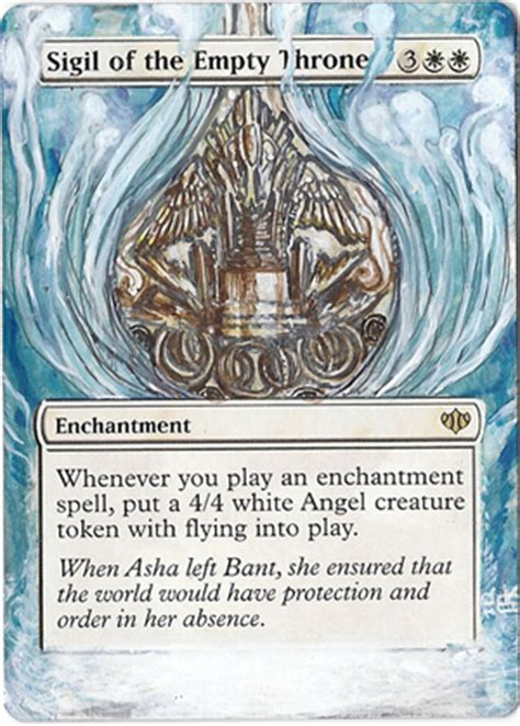 sigil of the empty throne deck modern magic card alteration sigil of the empty throne by ondal