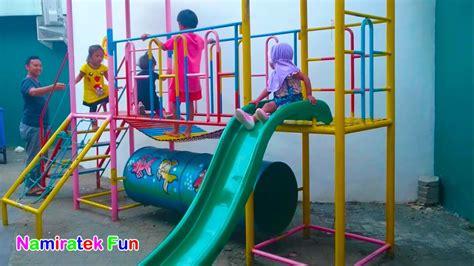 mainan anak baju pikachu pokemon outdoor playground taman bermain anak seru sekali bersama teman