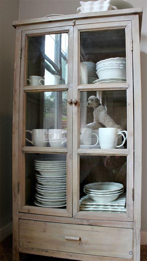 decorative storage cabinets  glass doors