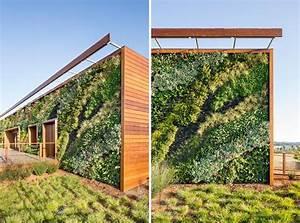 Mur Végétal Extérieur : mur v g tal ext rieur pour conf rer un attrait colo ~ Premium-room.com Idées de Décoration