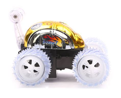 Buy R/C Stunt Car Small Non chargeable   Golden Online In