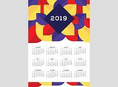 Printable 2019 Wall Calendar Designs Calendar 2019