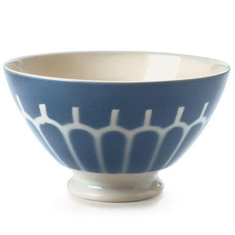 See more ideas about french coffee, bowl, polka dot bowl. Ceramic Latte Bowl, Large, Large - Arch/Blue   Vintage coffee, French coffee, Ceramics
