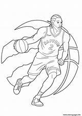 Leonard Kawhi Coloring Raptors Toronto Nba Pages Draw Printable Drawing Basketball Drawings Coloriage Players Drawitcute Sketch Imprimer Carnaval Tutorials sketch template