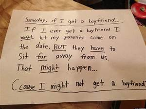 Cute Kid Note Of The Day: 'If I Get A Boyfriend' | HuffPost