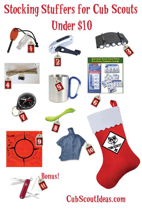 cub scout stocking stuffers under 10 cub scout ideas