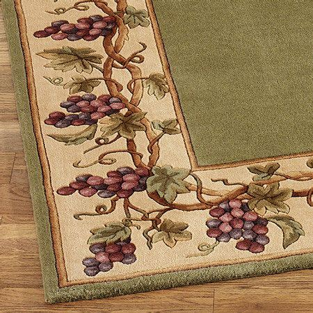 grapes napa border rug runner vintage kitchen and