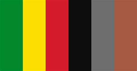 Rastafarian Flag Colors Color Scheme » Black » SchemeColor.com