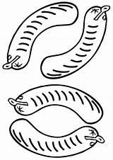 Sausage Coloring sketch template