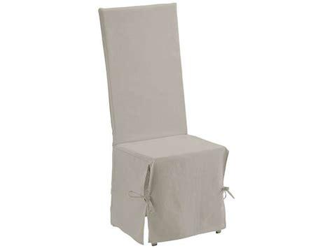 housse de chaise casa housse de chaise 45x50 cm coloris ivoire conforama