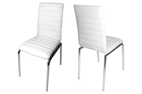 Excellent Great Modern White Leather Dining Chairs Design