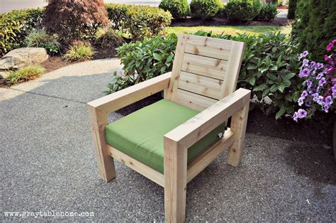 wood outdoor furniture diy modern rustic outdoor chair gray table home Diy