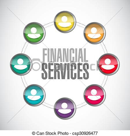 Financial services connection sign concept illustration ...