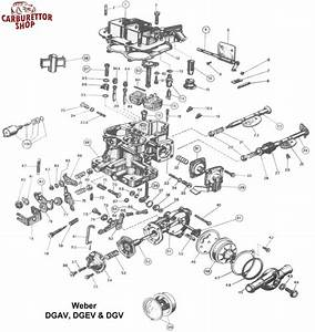 Weber Dgav  Dgev And Dgv Carburetor Parts