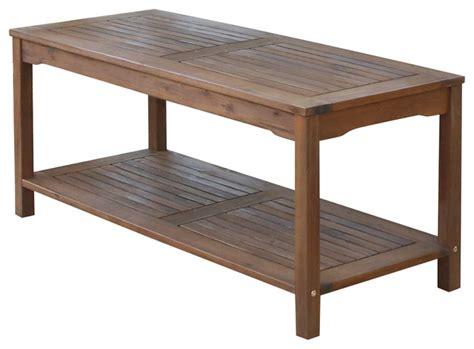 acacia wood patio coffee table transitional outdoor
