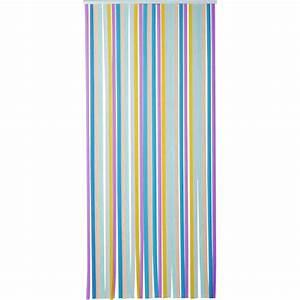 Rideau Hauteur 220 : rideau de porte lani re tahiti 100 x 220 cm multicolore de rideau de porte lani re ~ Teatrodelosmanantiales.com Idées de Décoration
