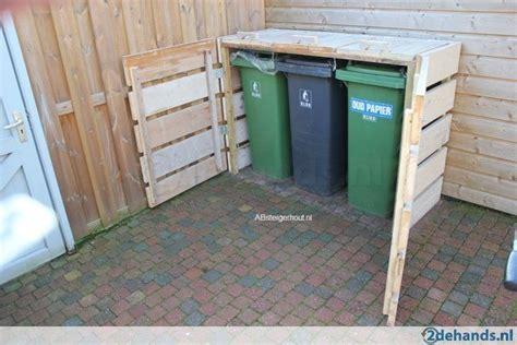 outdoor wooden garbage  storage bin creative