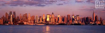 Panoramic Skyline Of New York City From Weehawken At