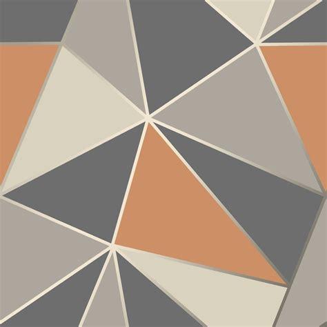 fd fine decor apex geo burnt orange geometric design